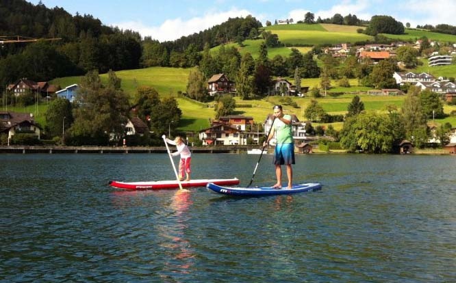 Stand Up Paddling / SUP mit Kindern