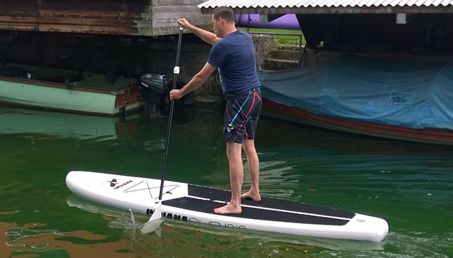 Indiana SUP inflatable test