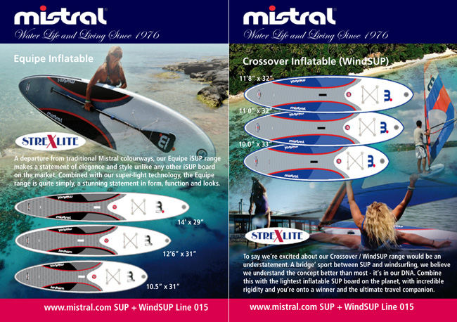 Mistral inflatables 2015 | Standup-Pages | SUP