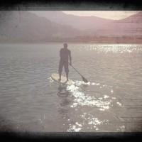 Flachwasser Stand Up Paddling
