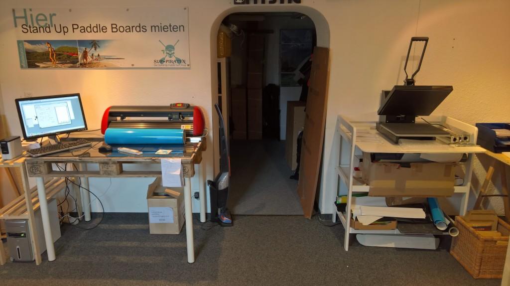 SUP Hardboard bedrucken beschriften