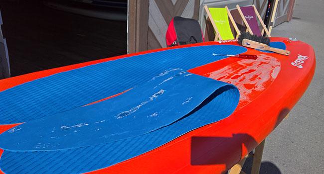 Fusspad-SUP-Board-defekt