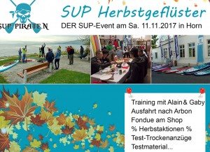 11. November SUP Herbstgeflüster – Der SUP Event in Horn