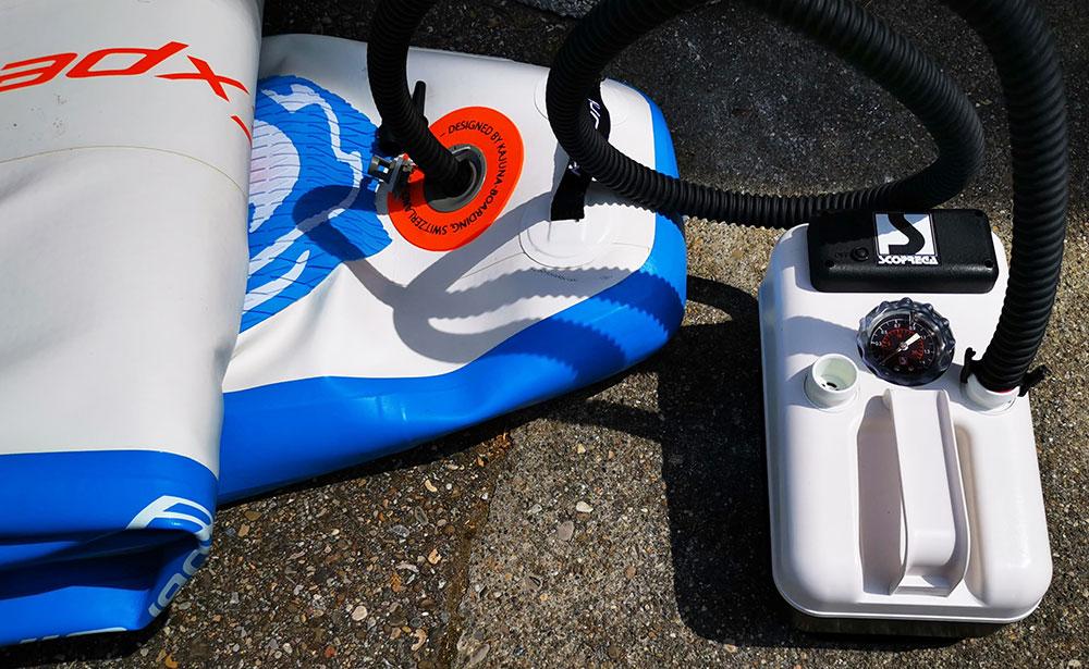 Hochdruck Luftpumpe f/ür SUP Boards Bravo SUP Pumpe